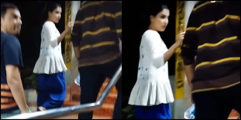 samantha warring her fan in thirupathi temple