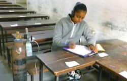 Class 10 student suffering from lung disease writes exam with oxygen cylinder