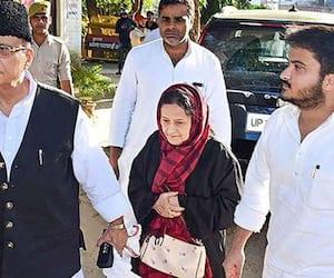 samajwadi party mp wife son under the police control