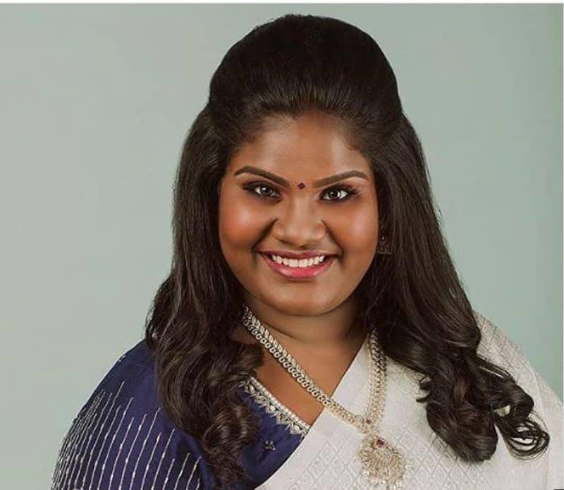 robo shanker daughter bigil indhraja new traditional look photo goes viral