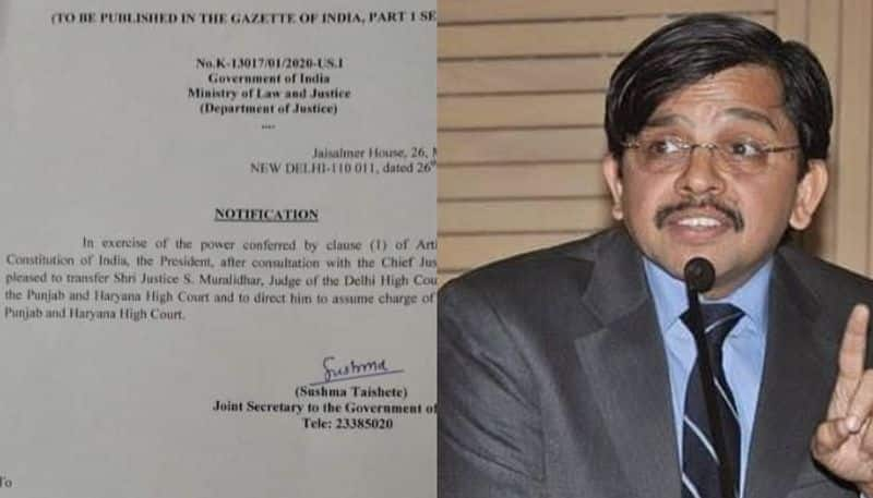 Justice Muralidhar breaks silence on his midnight transfer at farewell party