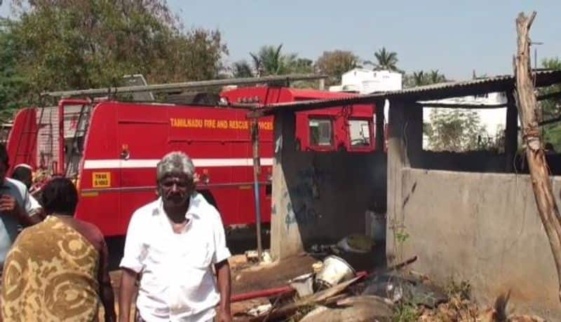30 cow died in madurai due to fire