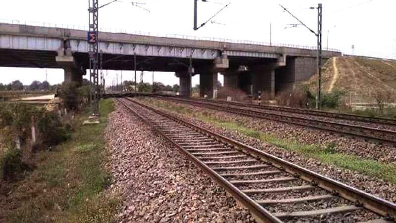 Man Slept train track