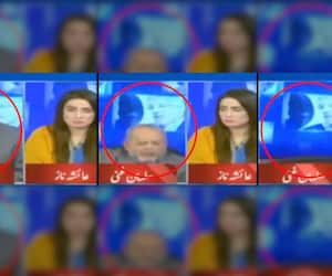 Oh my god: Pak TV anchor reacts to panellist falling off chair during live debate