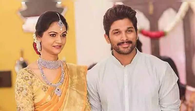 allu arjun celebrates 9th wedding anniversary with wife sneha reddy
