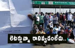 Telangana students from AP not allowed by police at toll gates