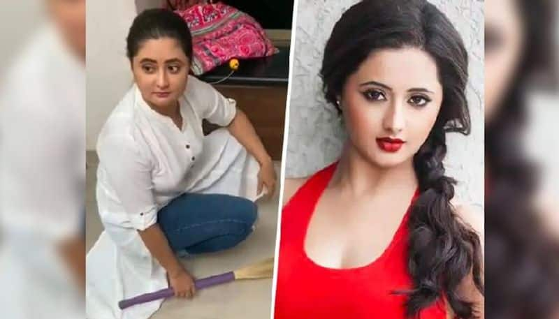 Rashami Desai gets trolled for having make up on while sweeping floor