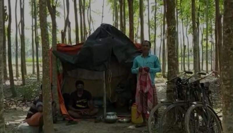 Odisha returned youths take shelter in forest to prevent coronvirus in Nadia