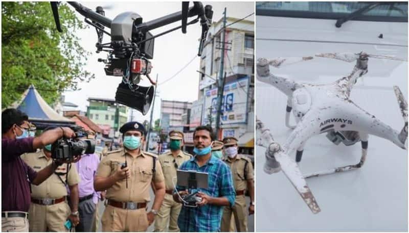 Corona havoc: drones are monitoring in Bihar