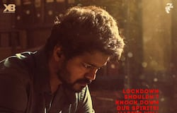 """As the lockdown may continue in all likelihood with Tamil Nadu in the second place in terms of coronavirus cases (600), the makers of upcoming Tamil film Master have released a new poster featuring Thalapathy Vijay in his signature style. The actor is seen sitting holding his wrist. And the tag line says, """"Lockdown shouldn't knock down our spirits. Master will meet you soon."""""""