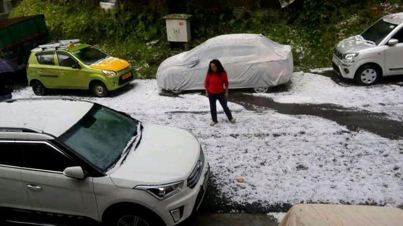 Ice rain in Darjeeling hills