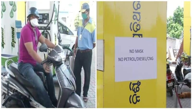 Petrol pumps in Bhubaneswar have decided not to provide petrol CNG and diesel to people who dont wear masks