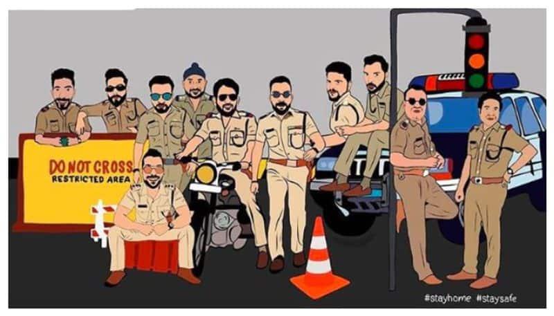 Mumbai Indians share a cartoon to salute Police for fight against Coronavirus
