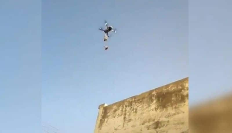 In lockdown Tobacco products delivered in morbi through drones