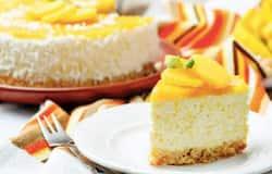 simple recipe of home made mango cheese cake
