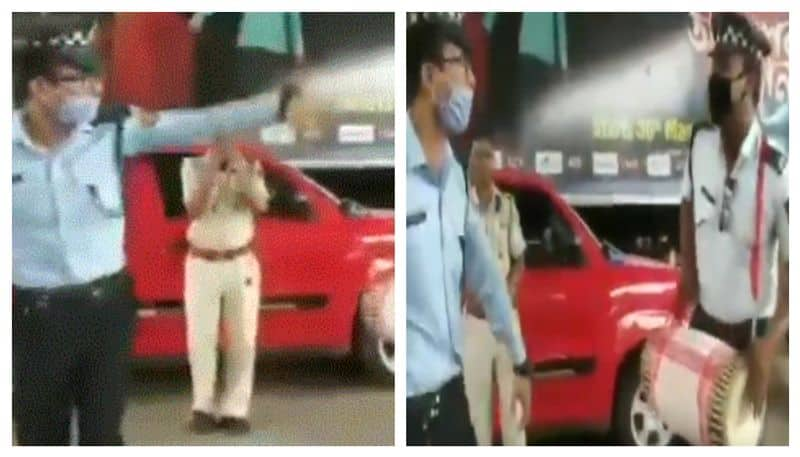 Assam Traffic personnel celebrate Rongali Bihu amid lockdown
