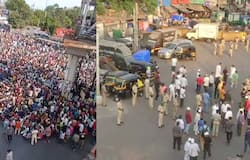 crowd outside Bandra, Mumbai, PM Modi address, April 14 lockdown, April 14 PM address, PM Modi, Narendra Modi, PM Modi message, lockdown announcement, 21 days lockdown, corona in India, corona figures, death from corona, पीएम मोदी, मोदी देश के नाम संदेश<br /> &nbsp;