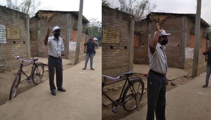 Two teacher take the inatiative to create Corona awareness in tribal villages at Birbhum