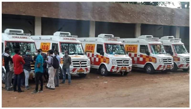 ambulance employees in strike