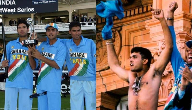 Not only Sourav ganguly, Yuvraj Sing also removed shirt after Natwest final win, but nobody noticed