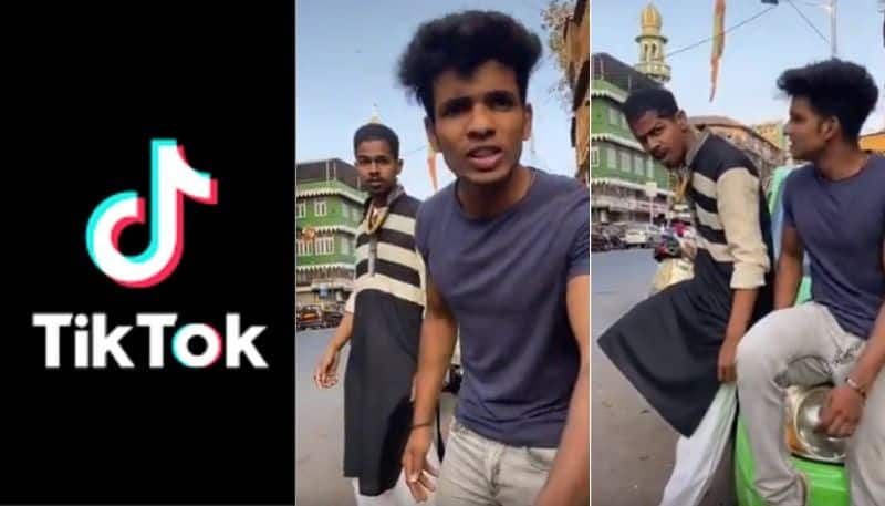 two arrested for stepping out and making tiktok video in mumbai