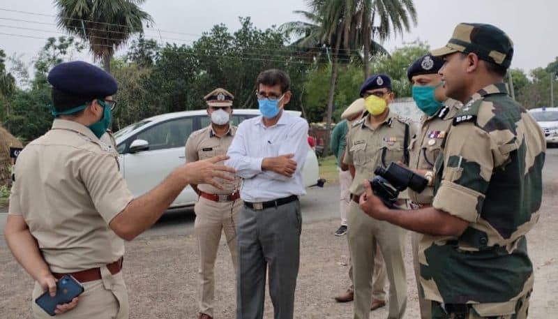 Security advisor along with DG visits Murshidabad