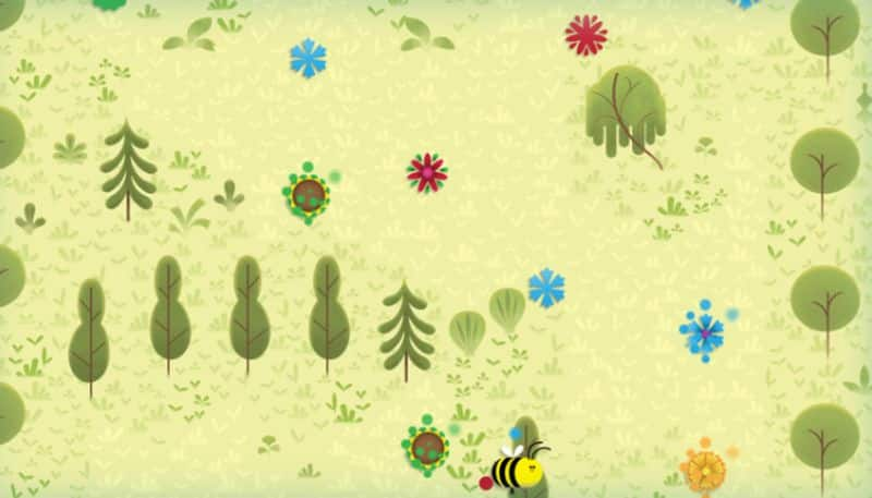 Google Doodle Honey Bee Game to celebration of World Earth Day