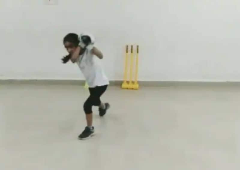 7 Year old Indian Girl's Batting Skills Wows Shai Hope, Michael Vaughan