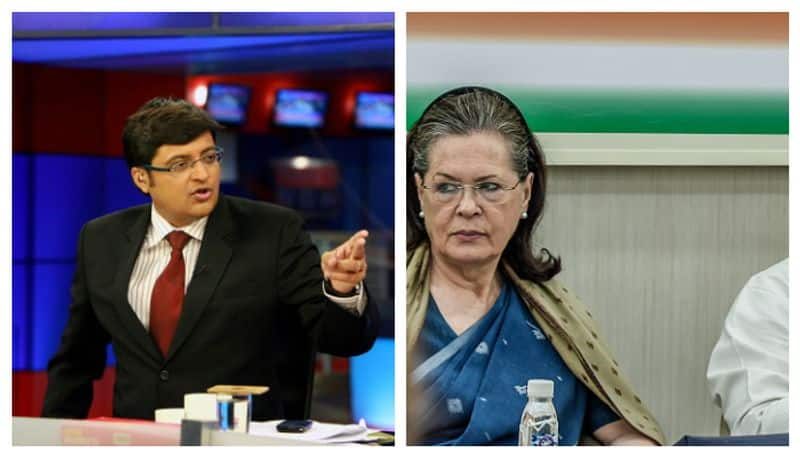 Arnab Goswami alleges physical assault by Congress calls Sonia Gandhi a coward