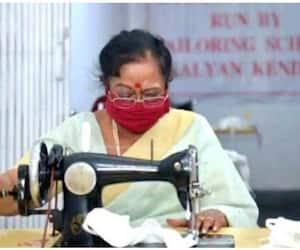 First Lady Savita Kovind stitches masks during lockdown