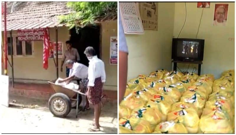 covid 19 free kits to be distributed through ration shops kept in cpm cpi offices