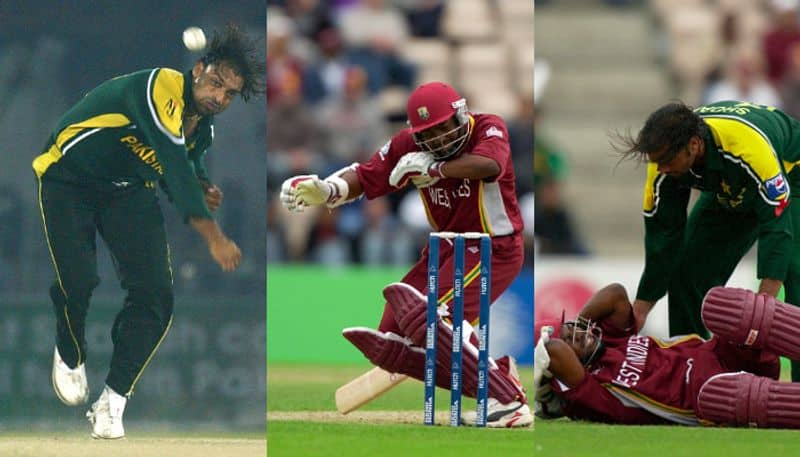 Shoaib Akhtar shared a throwback video of him bowling a really quick delivery to Brian Lara