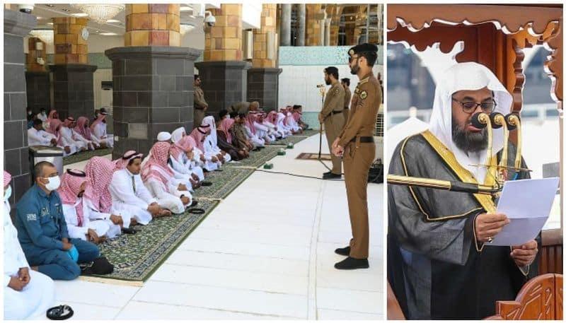 juma prayer held in holy mosque makkah amid covid restrictions