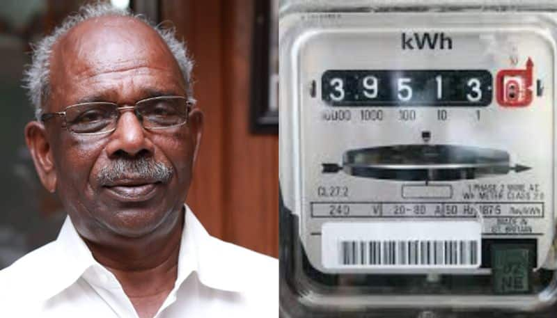 mm mani facebook post about kseb meter reading issue