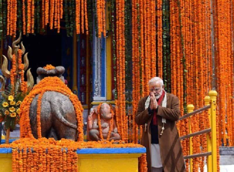 മോദിയുടെ കേദാര്നാഥ് സന്ദര്ശന സമയത്തെ ചിത്രം