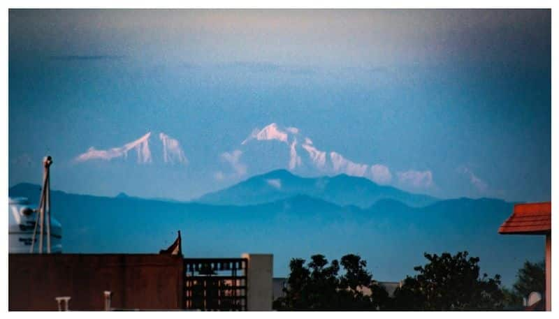View of the Himalayas from Saharanpur