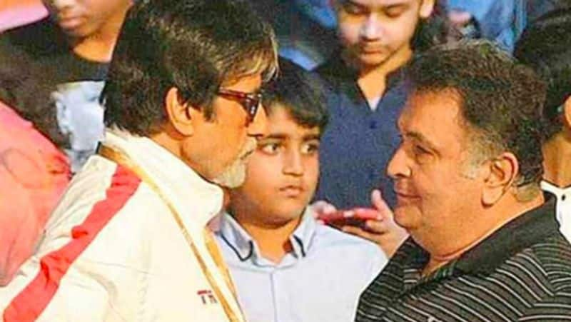 Amitabh Bachchan is all teary eyed while paying tribute to Rishi Kapoor