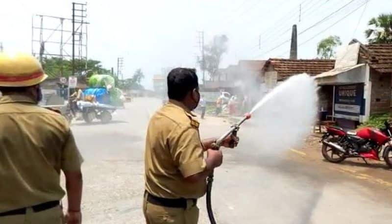 The state fire department has sanitized several places including Kolkata and Basanti highways