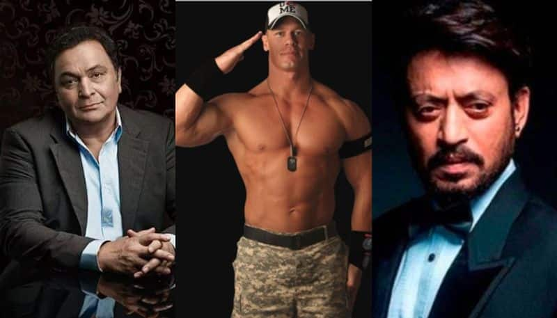 WWE superstar John Cena paid tribute to late  actor Irrfan Khan and Rishi Kapoor