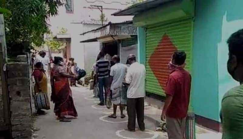 Local stage protest over distribution of ration in Hooghly