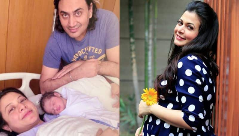 Koel Mallick  posted a picture with the newborn on her Twitter