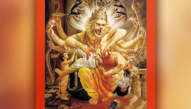 Worshiping this Narasinha form of Lord Vishnu destroys sins and removes the problems of life