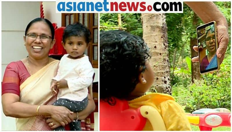 covid 19 special story on mothers day kk shailaja and her grand daughter