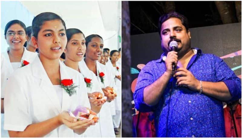 nirmal palazhi in nurses day