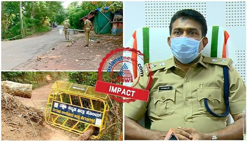 asianet news impact on illegal entry of people from karnataka to kasargod