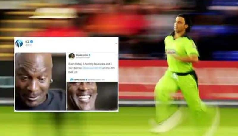ICC trolls Shoaib Akhtar and former pakistani gives reply