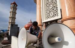 <p>Azaan in loud speaker</p>