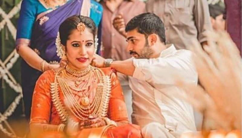 rathinirvedam fame sreejith vijay shared a photonote on his wedding anniversary day
