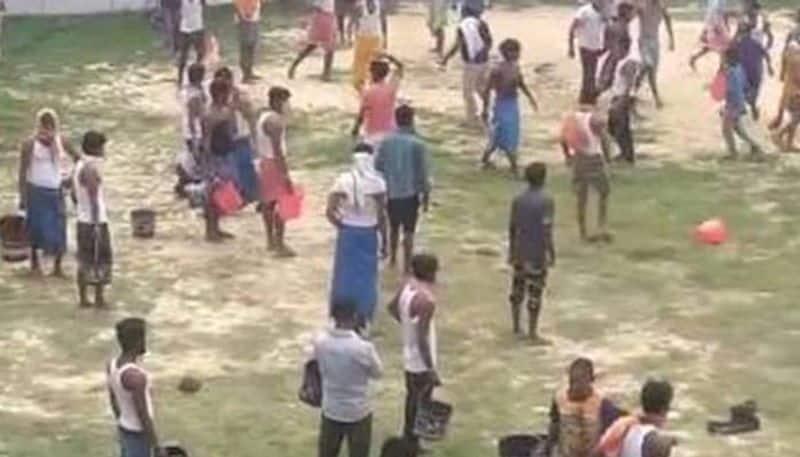 Fight Over Water At Bihar Quarantine Centre