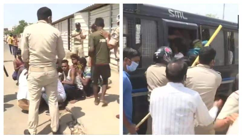 Clash erupts between police and migrant labourers in Ahmedabad